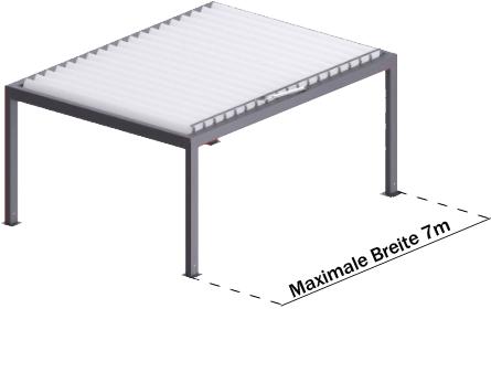 Pergola Maxbreite